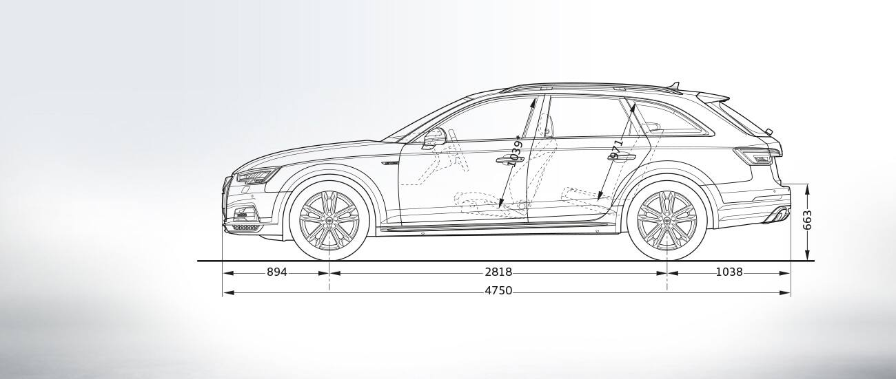 Sideview The All New A4 Allroad Quattro A4 Audi Ireland