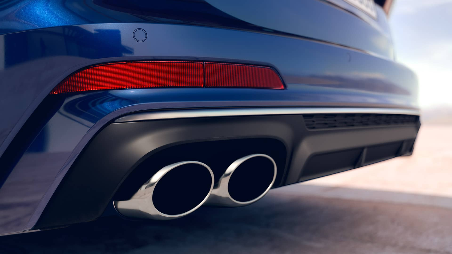 Tailpipes trims Audi S6 Avant