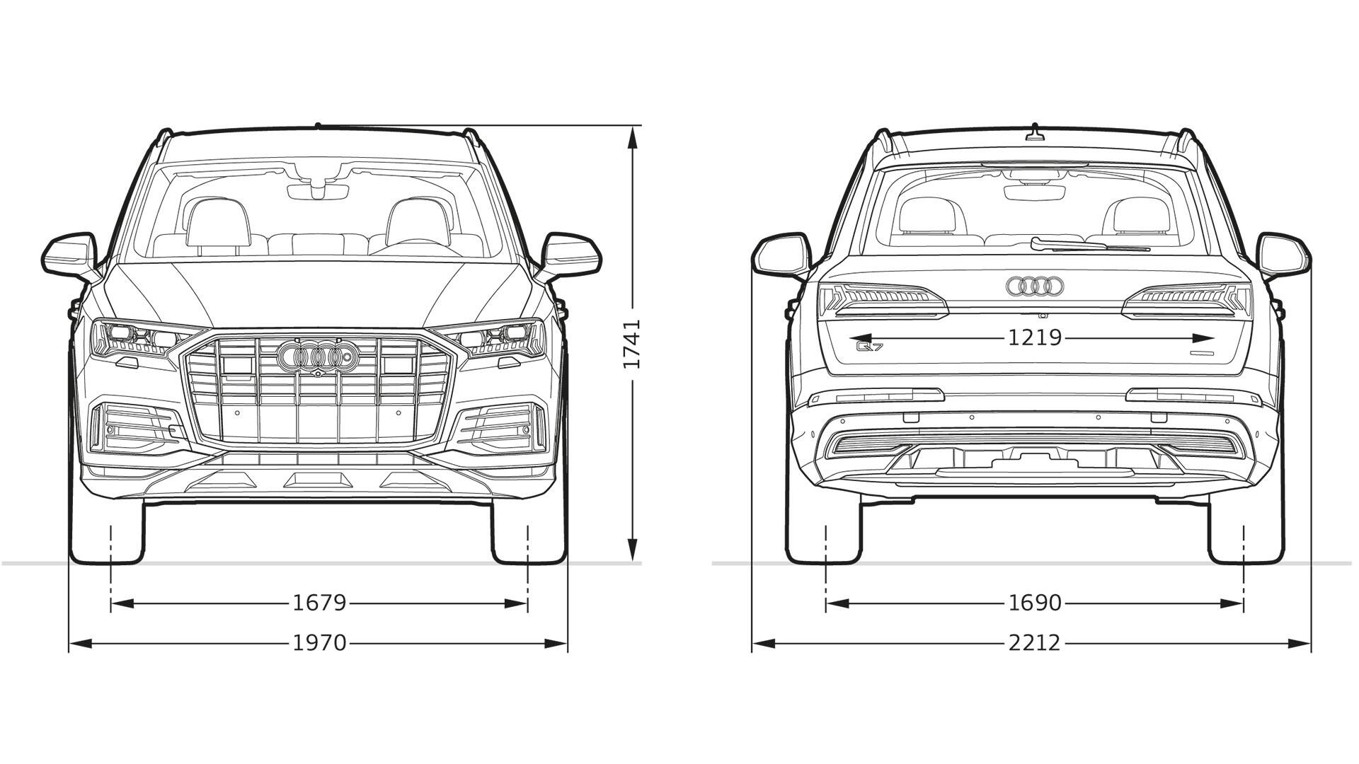 Front and rear view Audi Q7