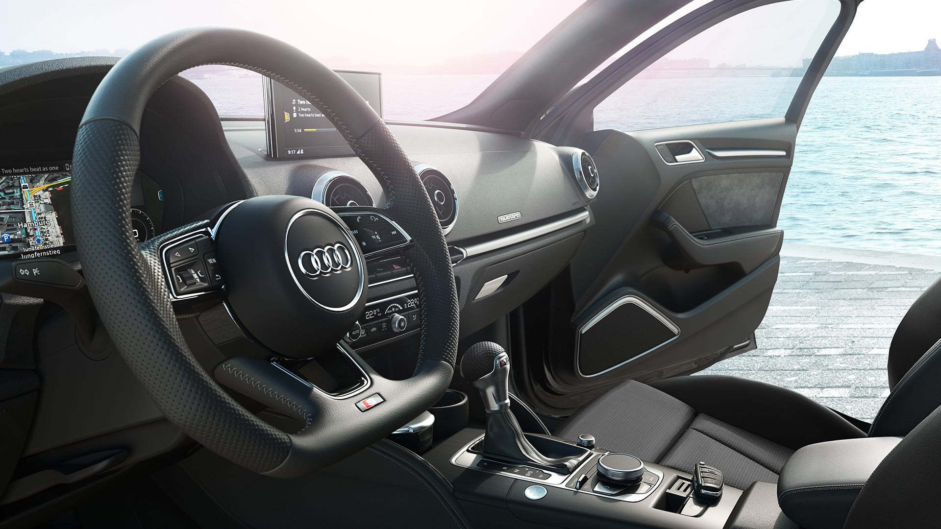 one of the highlights of the interior of the a3 is the optional audi virtual cockpit the various equipment lines give you additional equipment and
