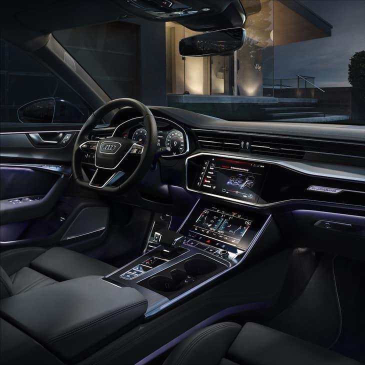 Das Ambientelicht Der Neuen A6 Limousine Bereichert Stimmige Interieur Design